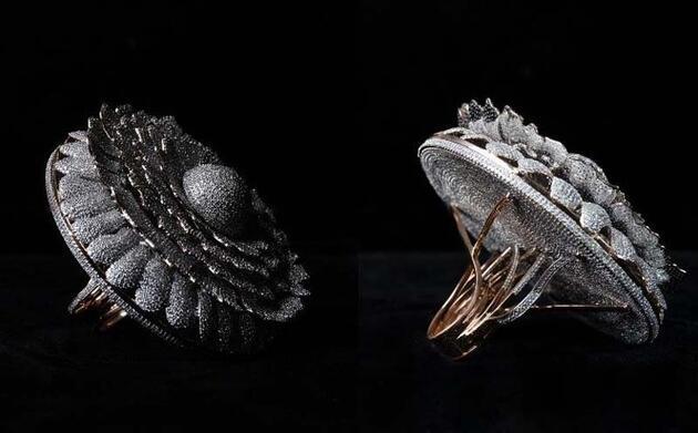 Üzerinde 12 bin 638 elmas bulunan yüzük Guinness'e girdi