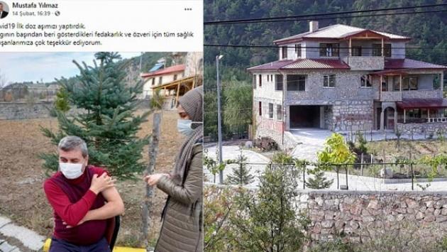 AKP'li belediye başkanına villasında aşı