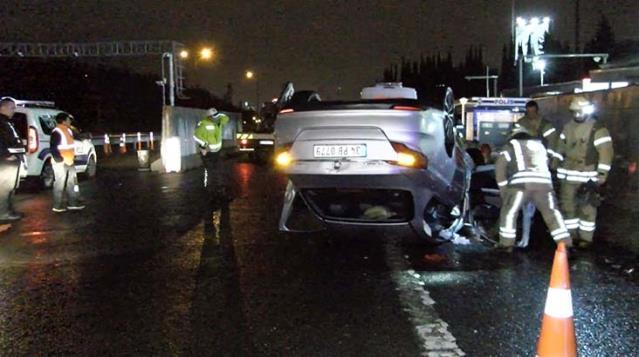 Alkollü sürücünün kullandığı otomobil takla attı: 3 çocuğu ve eşi yaralandı