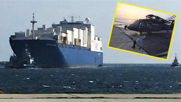 Dedeağaç'a dev Amerikan çıkarması: ABD gemisi yanaştı, helikopterler indi!