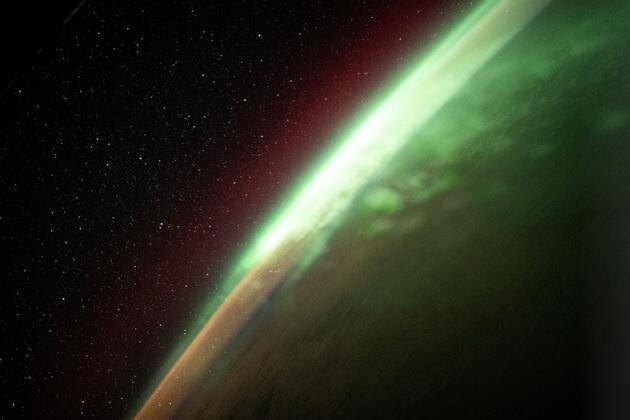 Uzaydan Hint Okyanusu'ndaki kutup ışıkları böyle görüntülendi